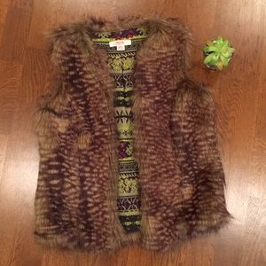 Mossimo Supply Co. (Target) Faux Fur Vest, XS